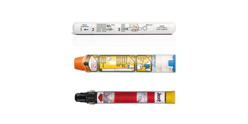 Image showing adrenaline auto-injectors - Epipen for BLS training