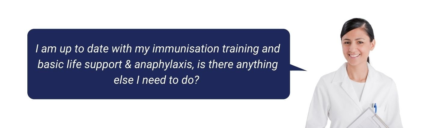 I am up to date with my immunisation training a